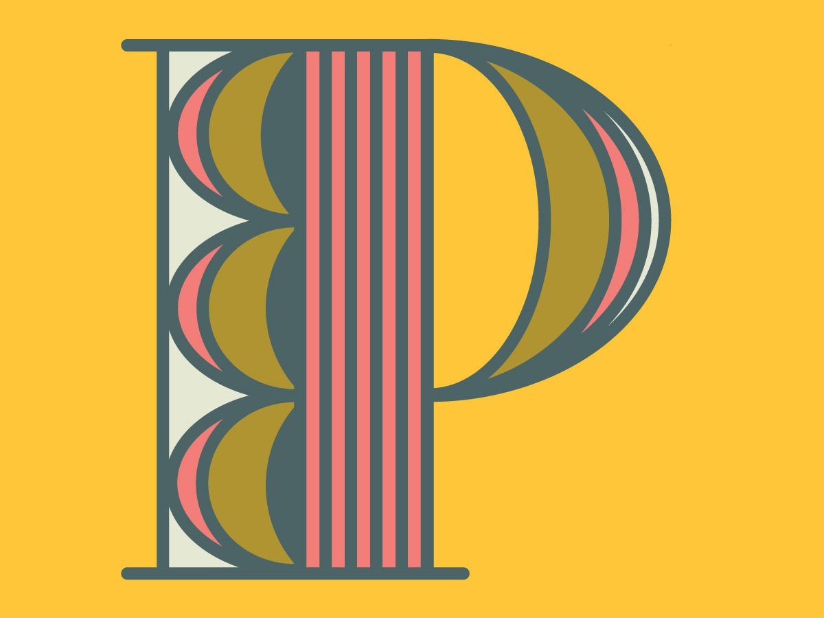 Letter P for #36daysoftype letter design illustration art colorful 36daysoftype colorful art letter type typography vector 36 days of type illustration design
