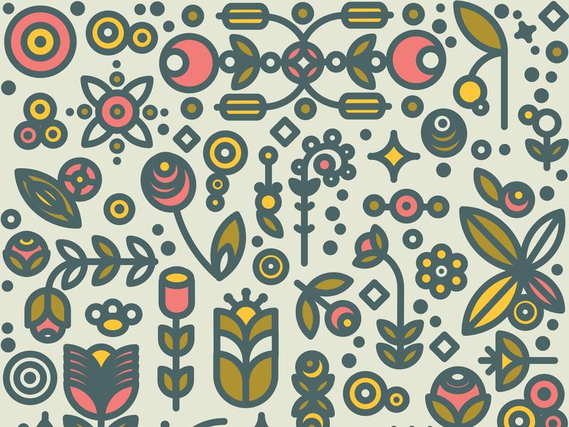 36dot flower garden pattern lifestyle home decor apparel graphics nordic flower logo monoline minimal digital art logo graphic branding colorful vector illustration design pattern design pattern art garden flowers illustration 36dot flower garden pattern