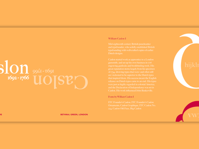 Caslon Typeface indesign work design font collection typeface typgraphy type specimen caslon type