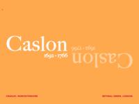 Caslon Typeface