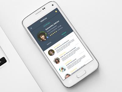 Profile Interface ux mockup dribbble application ui ux design mobile app app design sketch