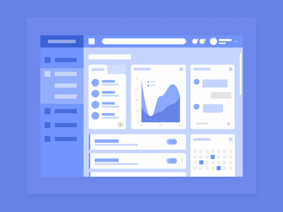 Abstract Dashboard blue monochromatic figma web design mockup flat search data dribbble abstract ui dashboard design