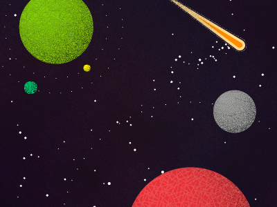Planets planets illustration space