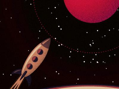 Spaceship planets space spaceship rocket illustration