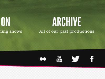 Archive website theatre archive social web design