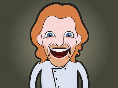 Paul character illustration chef