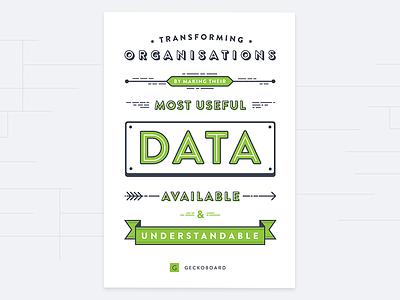 Mission Statement Poster data geckoboard typography text illustration poster statement mission