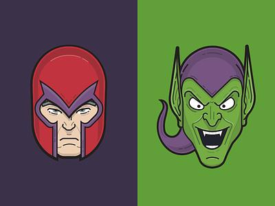 Magneto & Green Goblin book comic supervillain villain marvel goblin green magneto