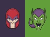 Magneto & Green Goblin