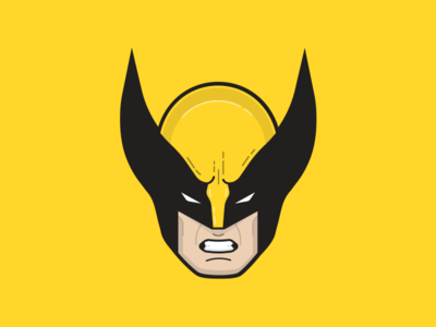 wolverine by oliver whitehall dribbble rh dribbble com Wolverine Mask Logo Wolverine Face Logo Simple
