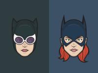Catwoman & Batgirl