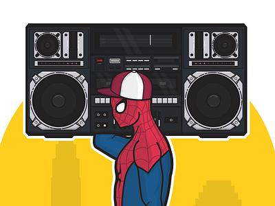 Marvel x Hip Hop york new boombox spiderman spider-man hop hip marvel