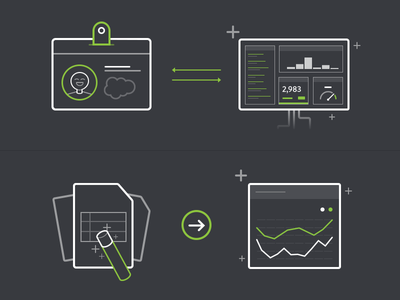 Salesforce Onboarding Illustrations report widget dashboard profile illustration geckoboard onboarding salesforce