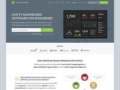 Geckoboard Homepage 2017 metrics dashboard illustration design web homepage geckoboard