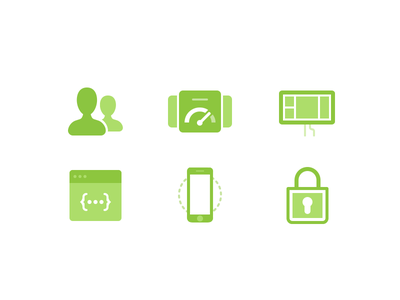 Pricing Page Icons security mobile api dashboard users pricing icons geckoboard