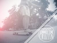 Summer Cruzzin summer light kit skateboard longboard logo