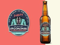 Groomsmam Beer Label