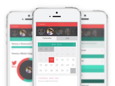 Portfolio Site ux ui flat phone learning color app portfolio interaction design calendar