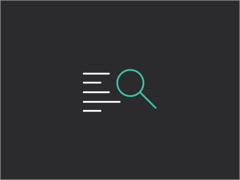 Content Audit content simple process pop line icon flat color bright