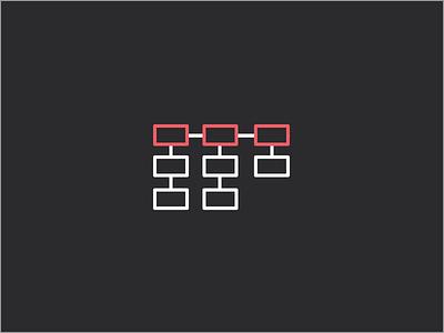 Information Architecture site map information architecture simple process pop line icon flat color bright