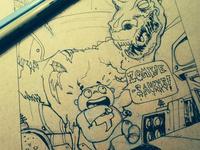 Inktober Zombiesaurus