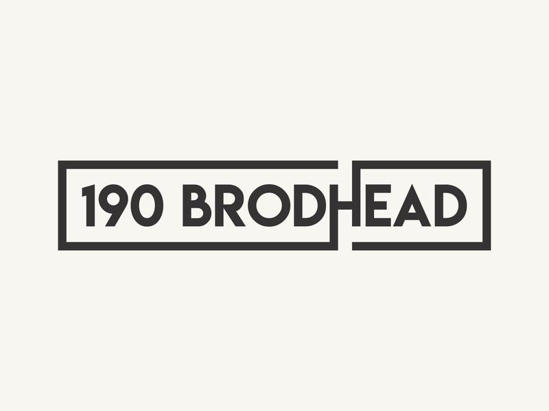 190 Brodhead flat simple sign box street design branding logo
