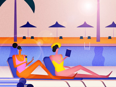 Last day of Summer summer animation after effects motion graphics motion design 2d illustration