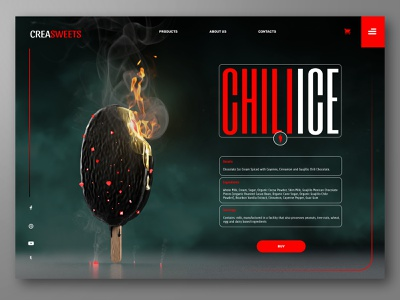 Chili Ice cream promo website concept