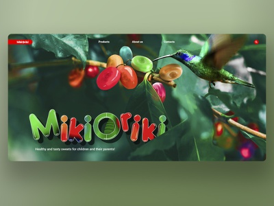 Mikioriki promo landing promotional design wellness sweets candy