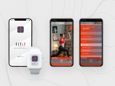 FITit Remote traning assistant workout fitness fitness app mobile ui mobile app ux ui