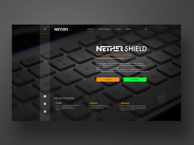 Nether Antivirus system promo site