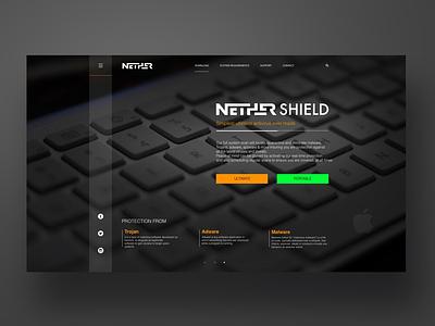 Nether Antivirus system promo site website webdesign