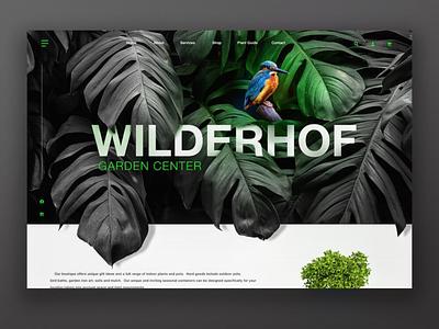Plant shop website photoshop webdesign website shop garden plants