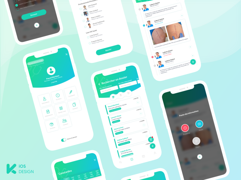 Keeskee iOS medical design health healthcare medical app medecine medical ios apple app ux ui mobile app design uiux