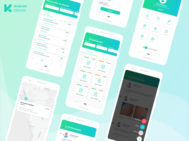 Keeskee Android medical design medical app medecine health healthcare android app design android app ux ui mobile app design uiux