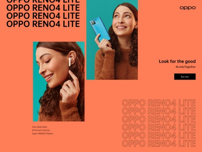 OPPO 2020 clean ux responsive website interaction interface uiux ui web promo video reveal animation paralax motion typography campaign landing page video cover animation landing