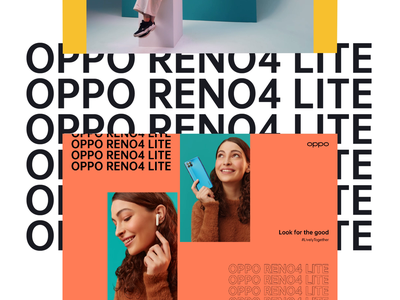 OPPO 2020 clean modern landing page website ux video typography animation animation typography campaign oppo phone orange colors clear minimal promo uiux ui landing
