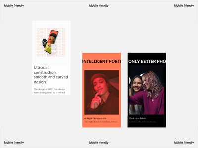 OPPO - Mobile ux ui clena orange black colors people campaign phone scroll animation scroll play video typography motion animation mobile friendly pwa responsive design mobile