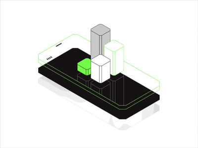 MUG - Illustration Guidelines statistic agency software house isometric design green vibrant modern bold black outline simple edgy animation motion responsive data mobile illustration illustrator isometric