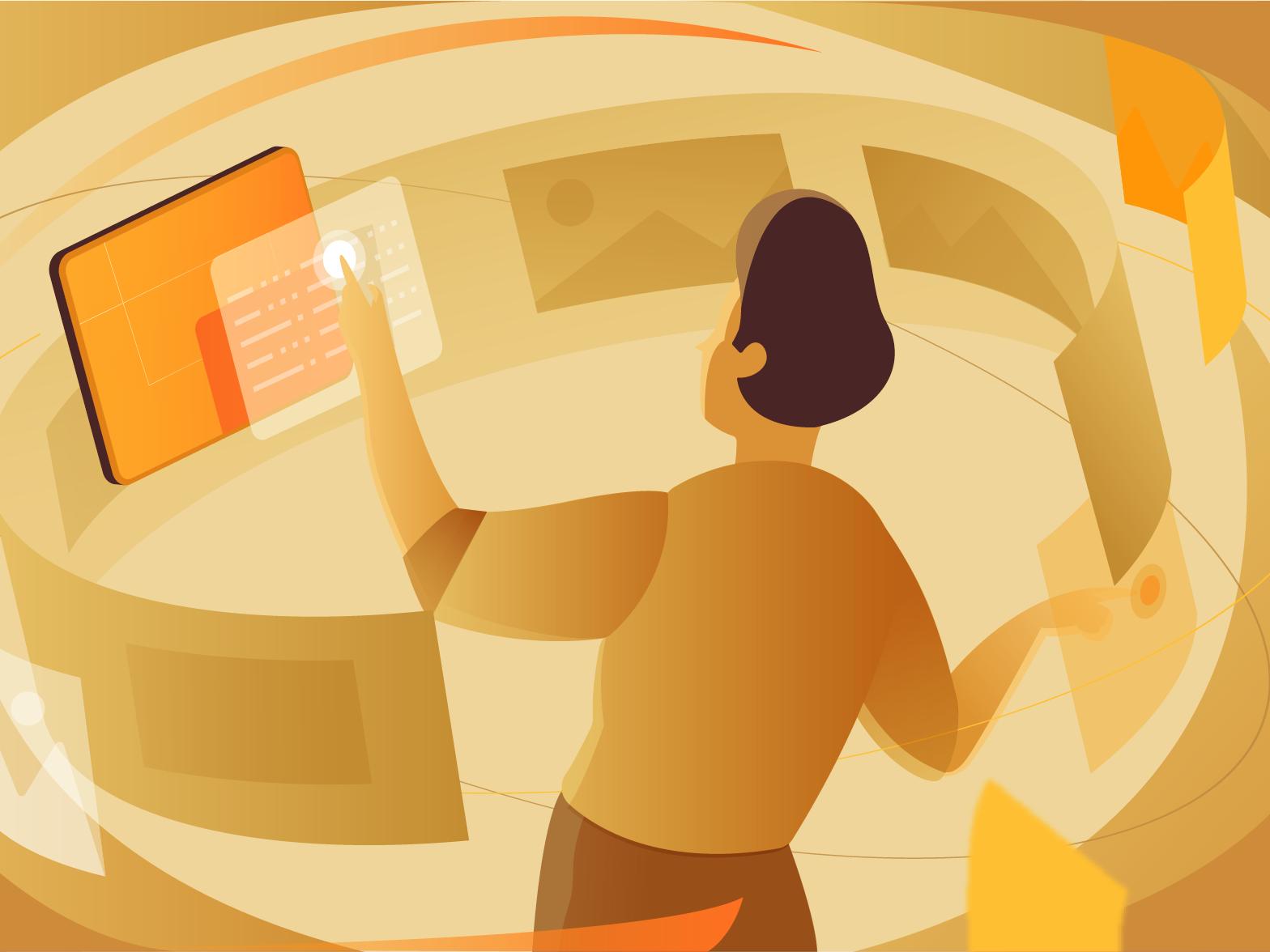 Rendering man vector illustration