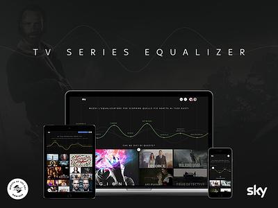 Tv Series Equalizer css design awards wave grid equalizer tv series ux ui sky web design art direction