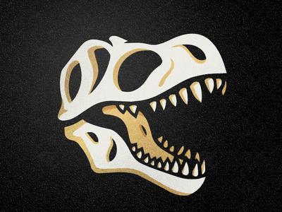 T-Rex Skull mascot logo bones fossil skull dino rex trex tyrannosaurus dinosaur