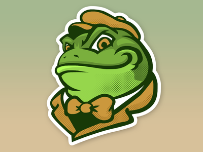 Wild Toad frog logo sports mascot toad mr