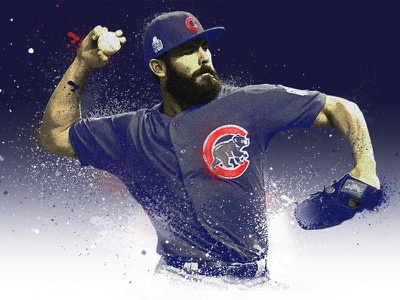 Jake Arrieta Chicago Cubs photo illustration curse mlb chicago series world baseball cubs