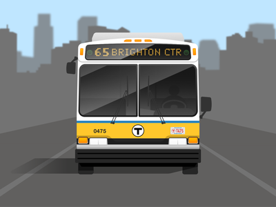 MBTA Bus boston geometric transit mbta bus