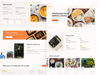 Healthy food delivery service — Main Page