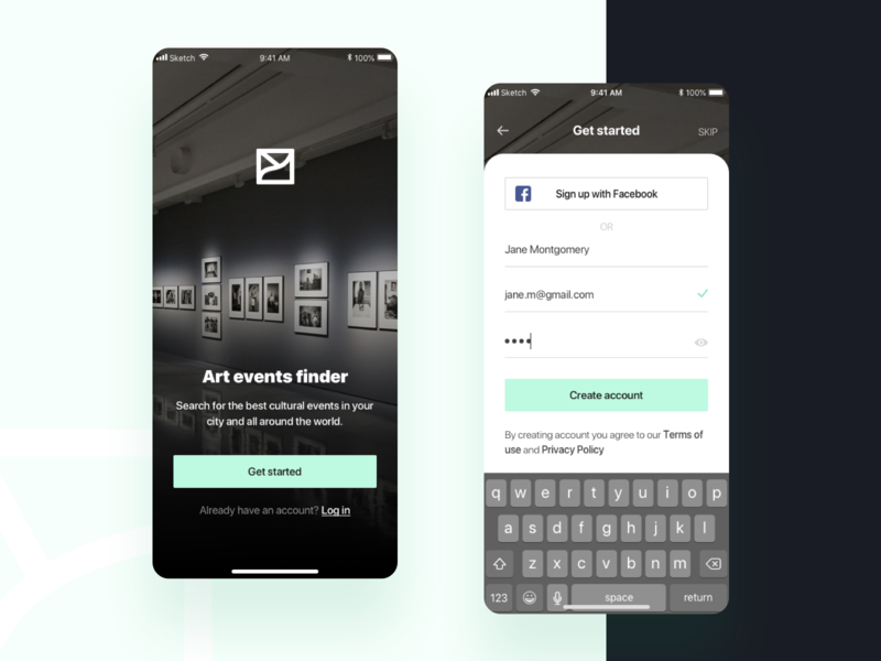 Daily UI #001 / Sign Up dailyui 001 dailyui sign up screen mobile app ui design