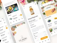 Classic Fine Food ecommerce app mcommerce ergonomy e-commerce shopping design ui ux app mobile