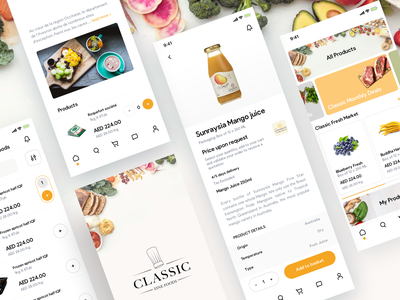 Classic Fine Food ecommerce app mcommerce ergonomy e-commerce shopping design ui ux app mobile