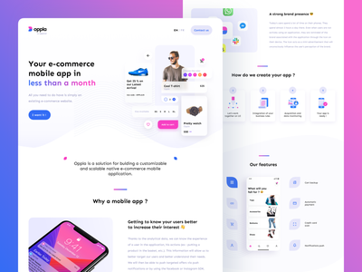 Do you remember Oppla? 😄 design ui branding mcommerce e-commerce shopping commerce landingpage landing app mobile ecommerce uxui ux